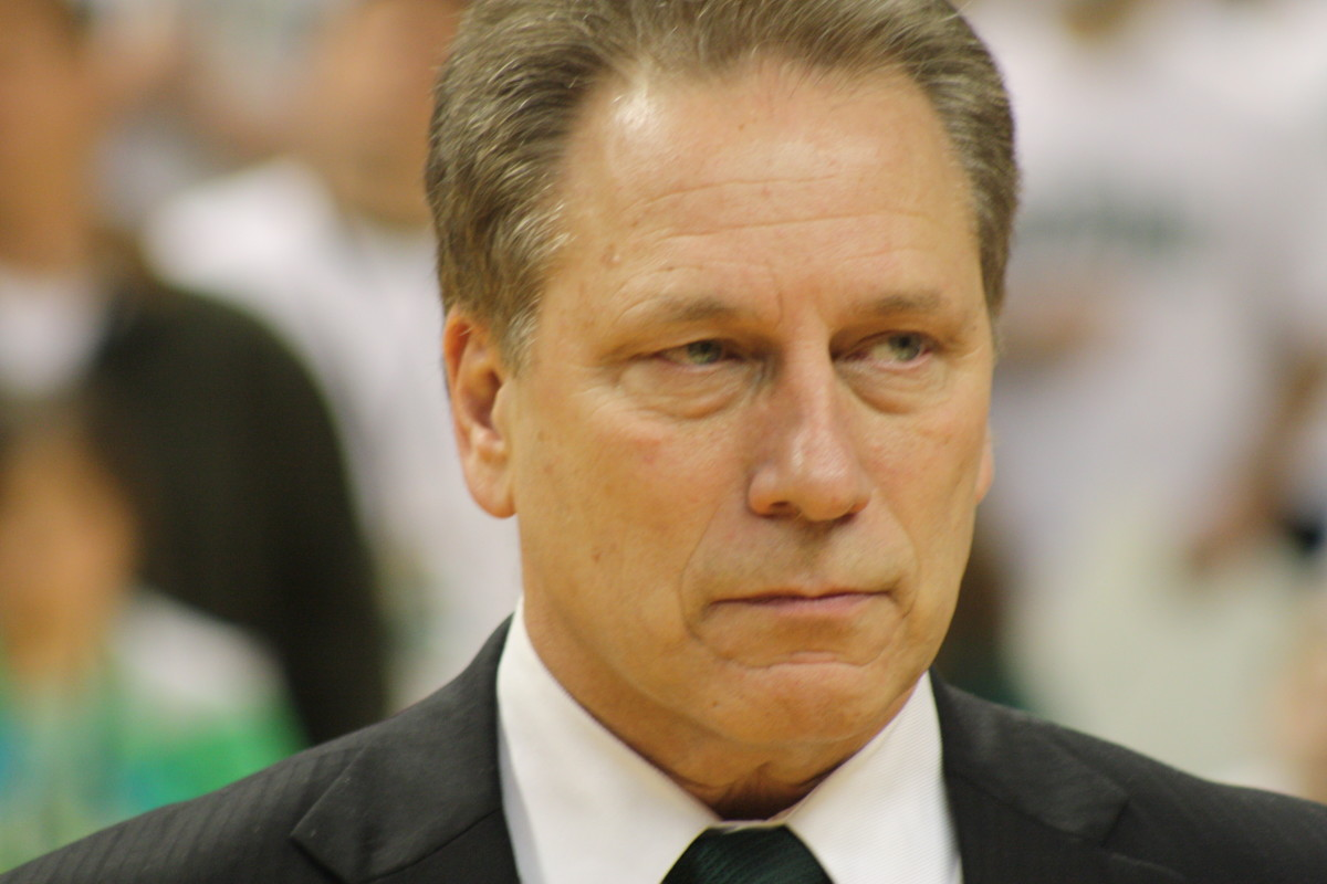 This face should send fear through the rest of the Big Ten.  Izzo is more focused on the little dance that any time I can remember.  Photo courtesy of Mark Boomgaard.