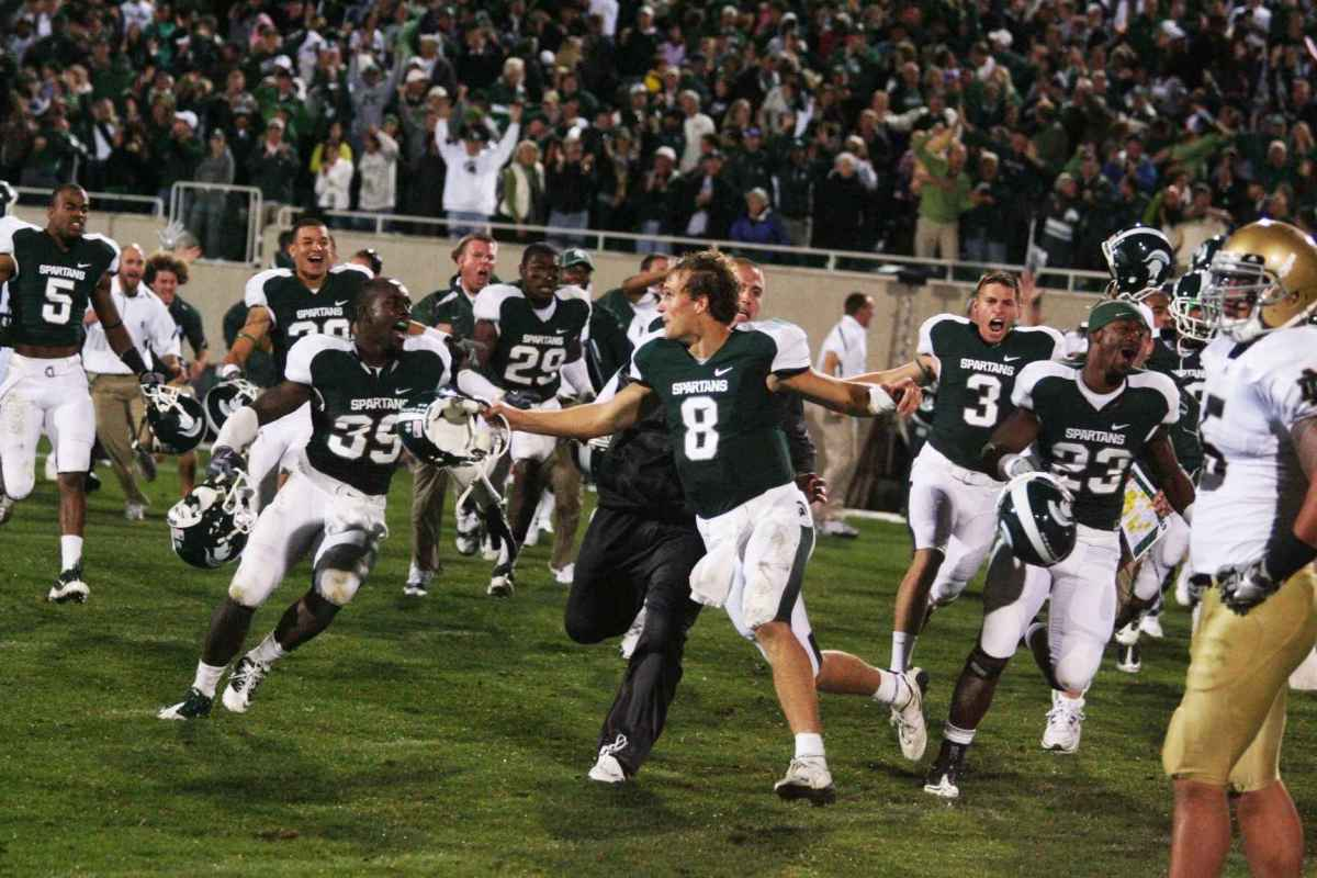 Who will lead the way rushing for the Spartans this Saturday?  The Spartan Nation voted!  Photo courtesy of Bill Marklevits.