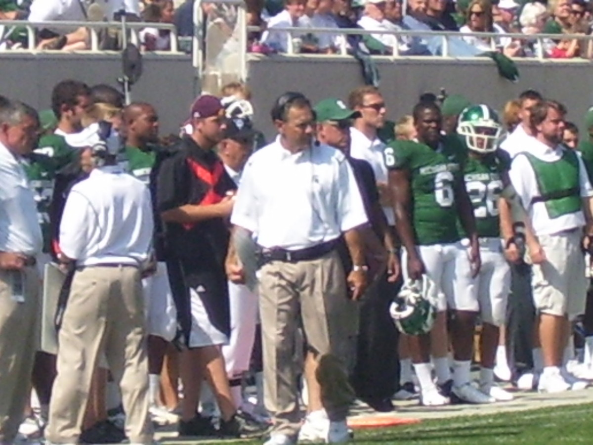 As Spartan Football goes through a tough time, Mark Dantonio can be trusted to take the Spartan Nation through it.  Photo Courtesy of Mark Boomgaard.
