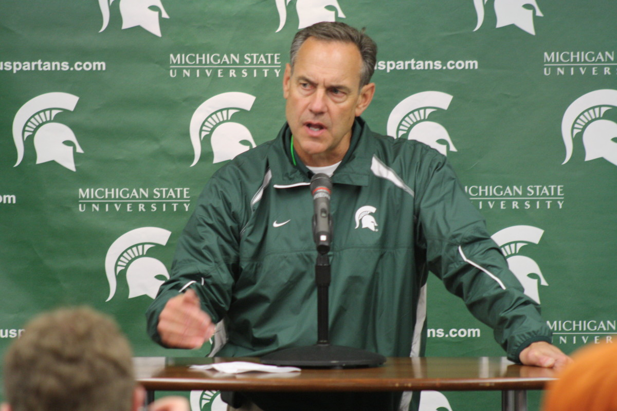"""Mark Dantonio has impressed Grant with his """"Not roughing up"""" recruits' approach looking for commitments.  Photo courtesy of Mark Boomgaard."""