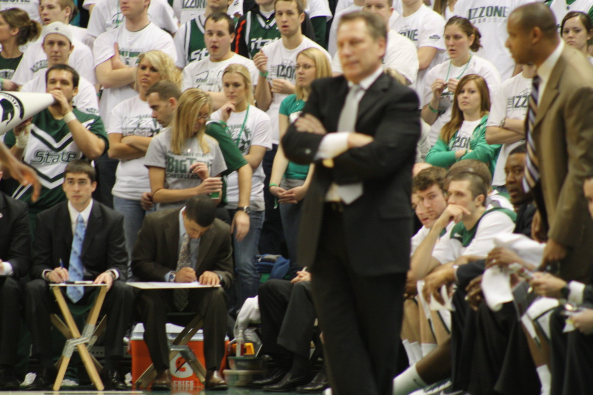 Don't bet against Izzo with one game for a banner on Sunday.  Photo courtesy of Mark Boomgaard.