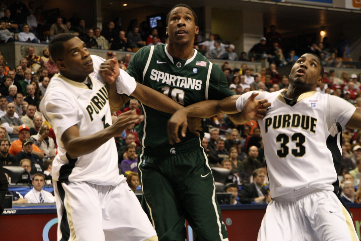 Delvon Roe has fought, clawed and led the Spartans in 2011.  Hear from him and other players along with Izzo in these great videos.  Photo courtesy of Mark Boomgaard.