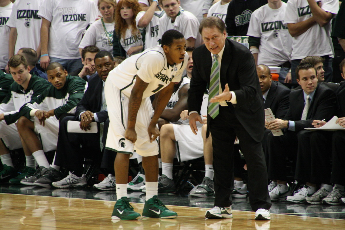 Tom Izzo's team is long on problems and short on answers.  photo provided by Mark Boomgaard.