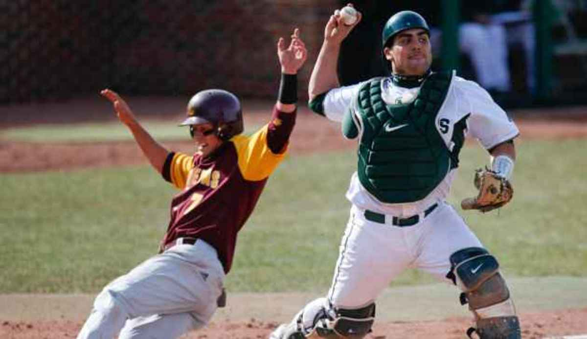 MSU held to six hits in loss to Chippewas.  Photo courtesy of MSU SID.