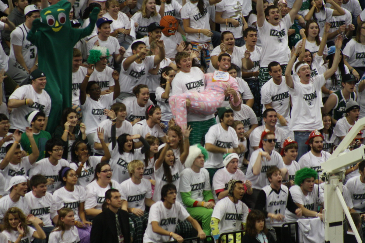 The Izzone was the highlight of the night as they were in mid season form early.  Photo courtesy of Mark Boomgaard.