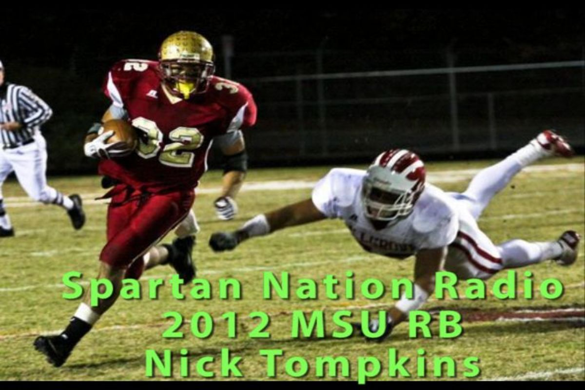 Nick Tompkins will be the next great RB star at MSU and Spartan Nation broke the story that he had pledged his talents to Mark Dantonio and MSU.  Now hear him tell you about it.