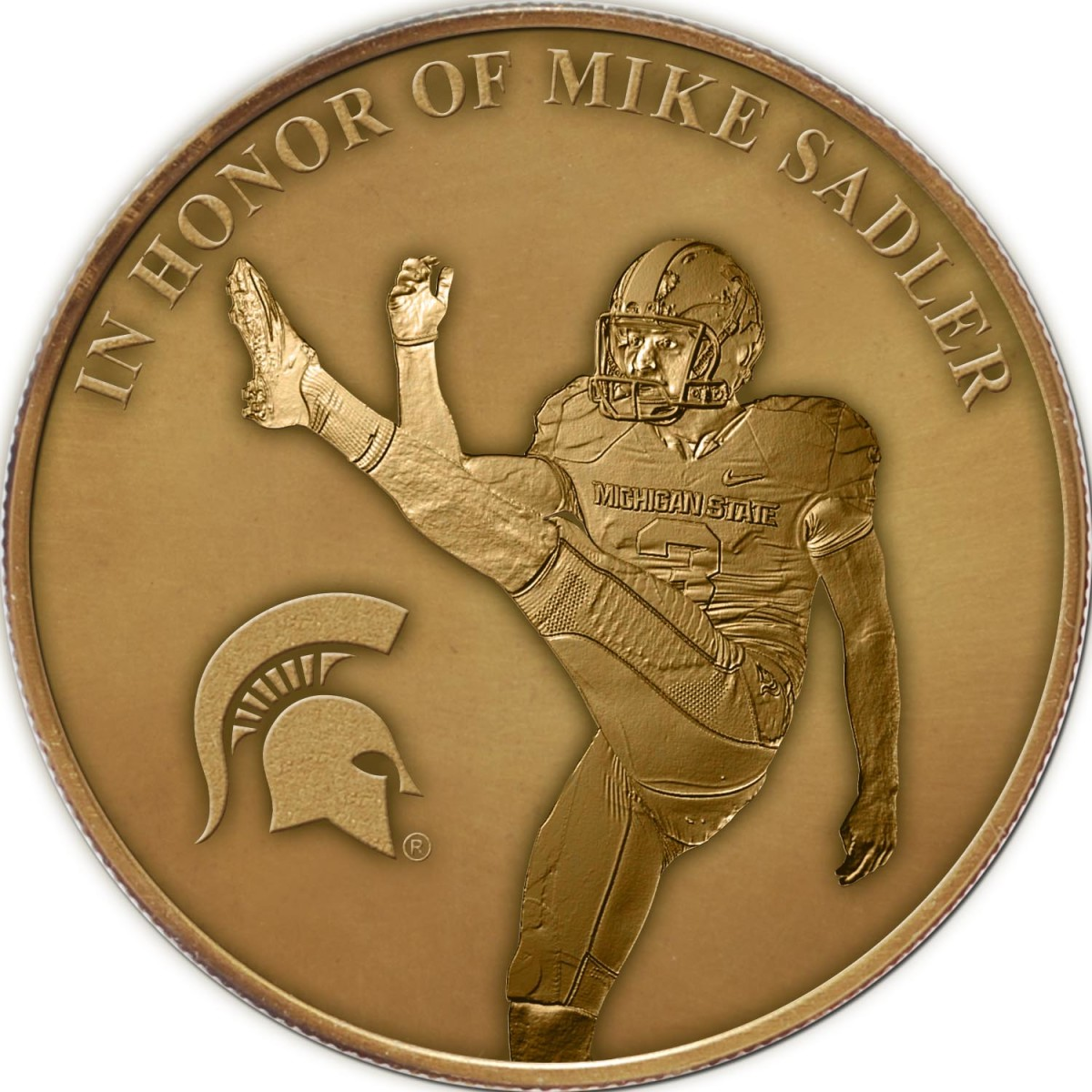Mike Sadler B1G coin photo courtesy of the Big Ten Conference.