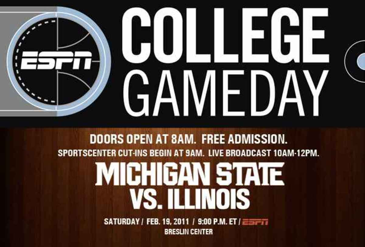 ESPN's traveling show makes second stop in Breslin Center.  Photo courtesy of MSU SID.