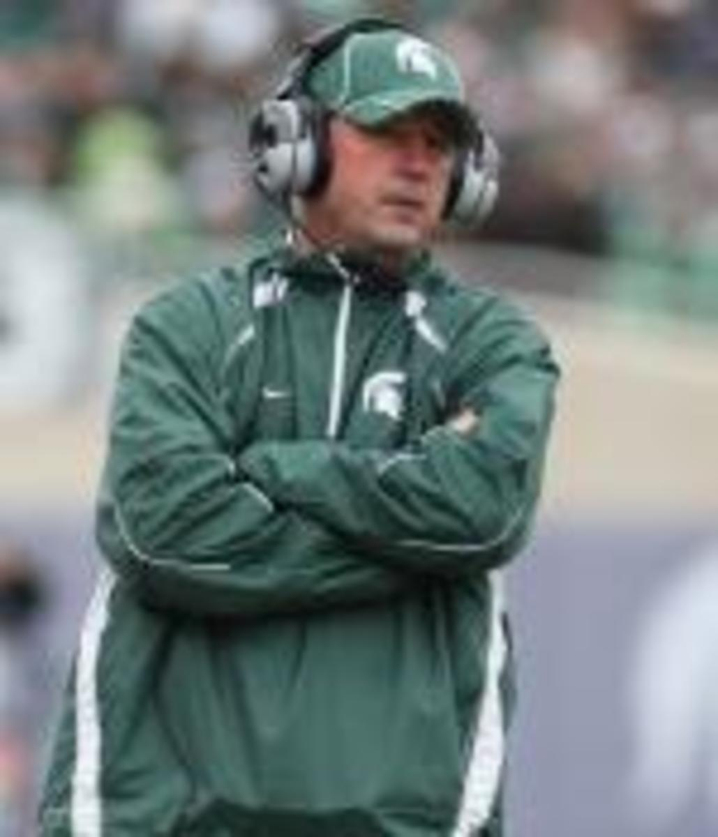 New MSU Offensive Coordinator, Dan Roushar, looks to keep the Spartan offense moving forward.  Photo courtesy of Michigan State University.