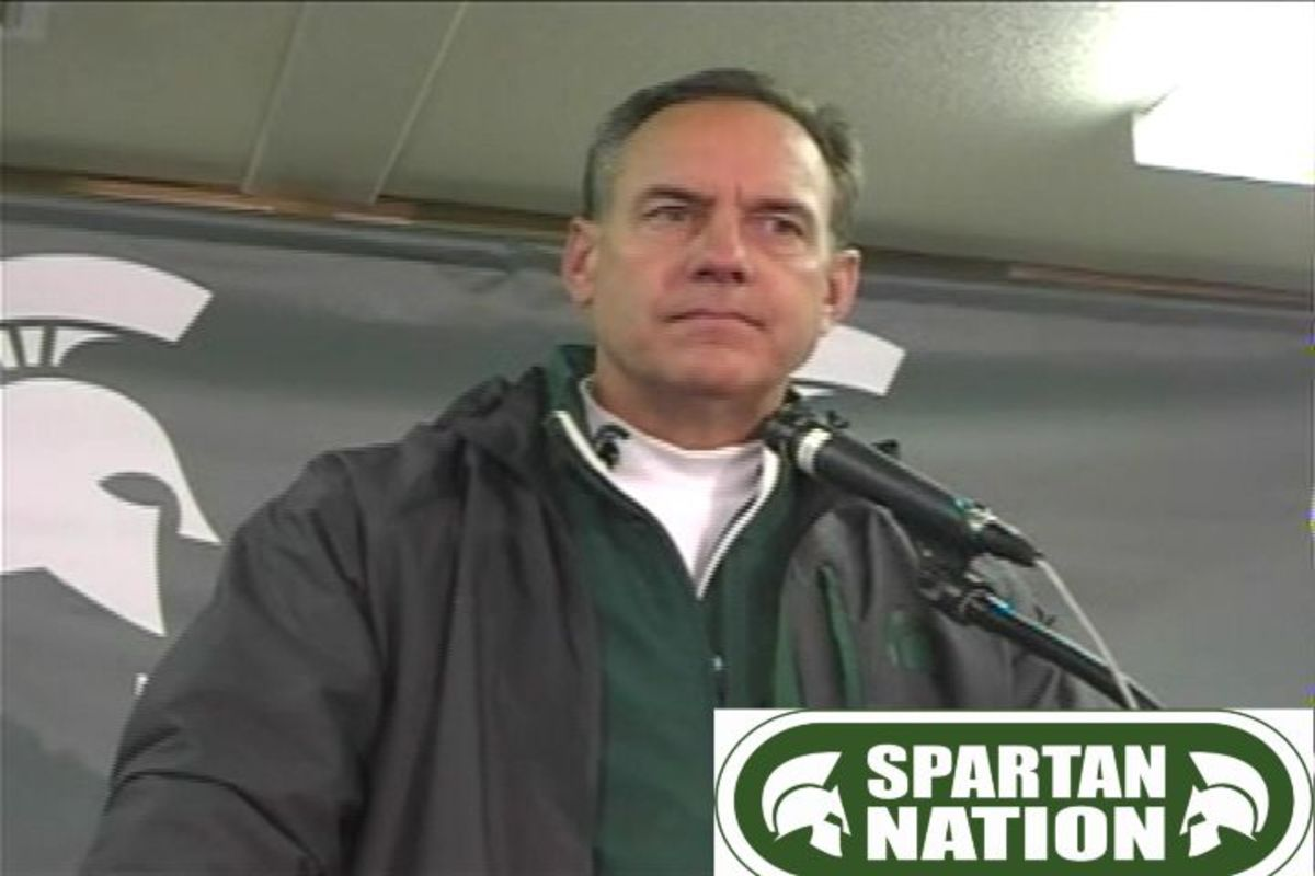 Coach Dantonio's Post Game Expression Told the Story of the Post Game Emotions!