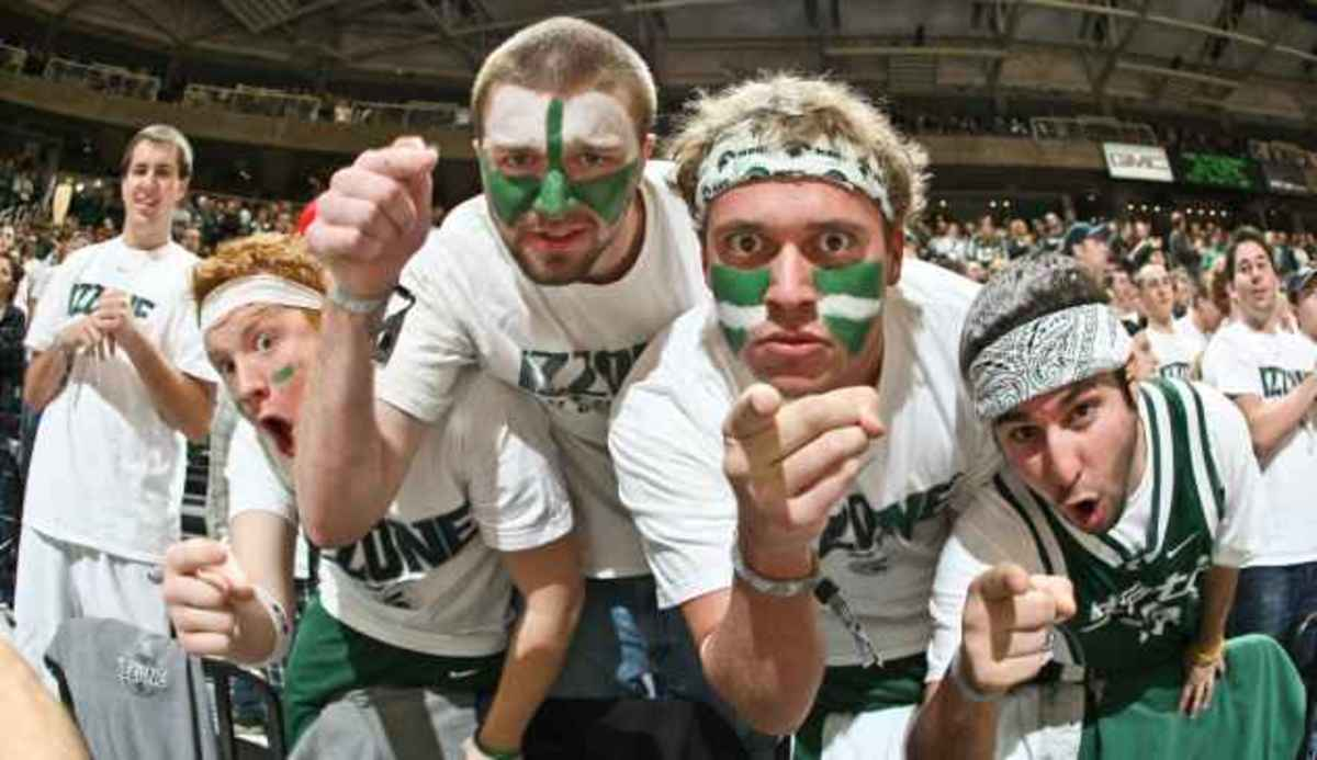 Spartan fans asked to wear white to MSU-Purdue on Sunday.  Photo courtesy of MSU SID.