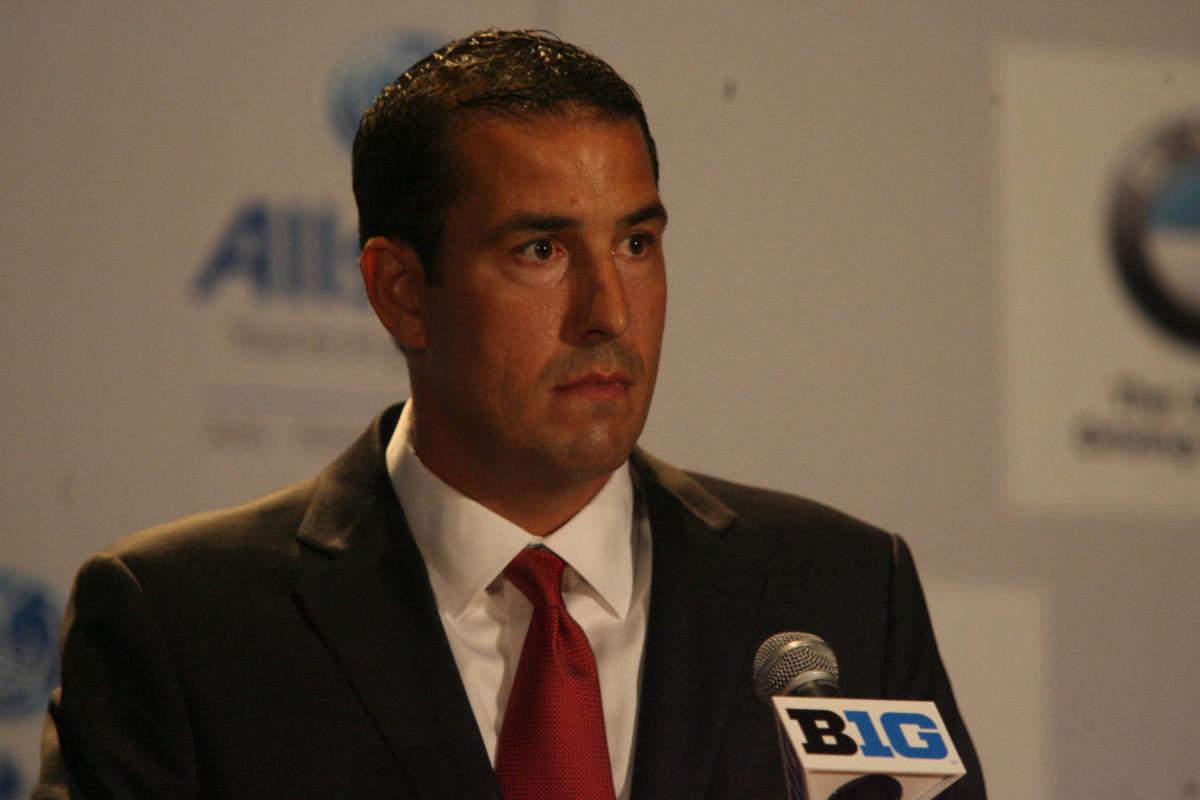 New Ohio State head coach Luke Fickell at the Big Ten media days.  Photo courtesy of Bill Marklevits.