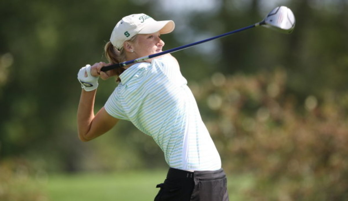 Spartans in 10th place following Thursday's first round.  Photo courtesy of MSU SID.