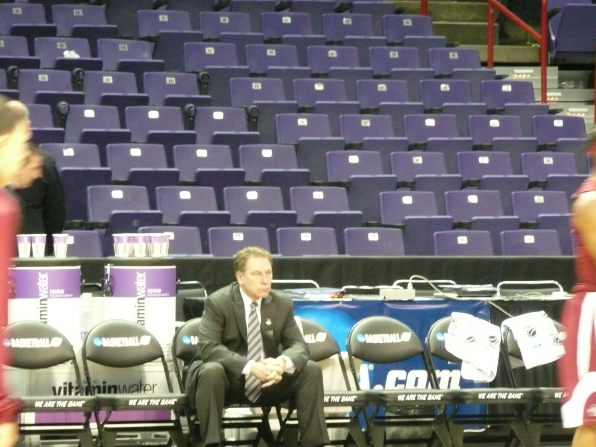 In the tournament the Spartans Head Coach Tom Izzo is simply the best in the nation.  Photo courtesy of Greg Martin.