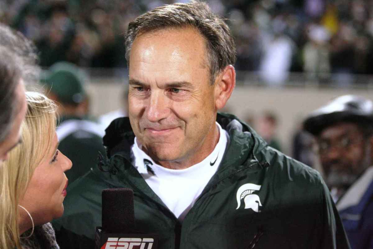 Mark Dantonio was all smiles after his win over the Irish in which he CLEARLY out coached Brian Kelly.  Photo courtesy of Bill Marklevits.