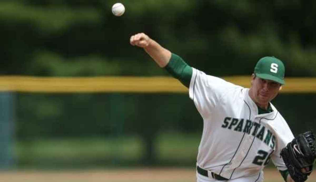 Kurt Wunderlich tosses seven innings to get the win; Torsten Boss goes 3-for-4 at the plate.  Photo courtesy of MSU SID.