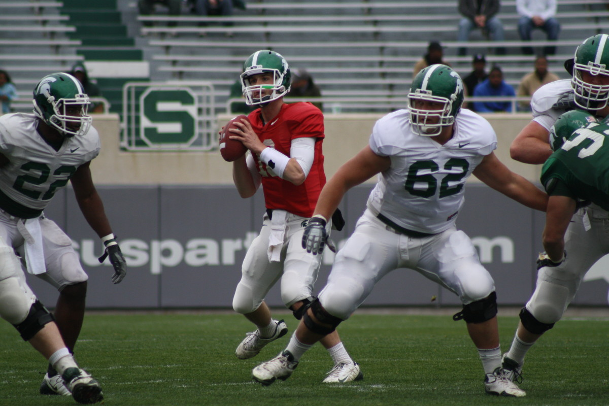 The Spartans come out of the spring ready for 2010.  Photo courtesy of Mark Boomgaard.