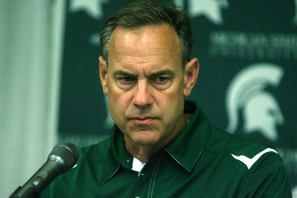 Mark Dantonio would like to put the 2009 season behind him as he finishes the 2010 recruiting class and works on 2011.  Photo Courtesy of Bill Marklevits.