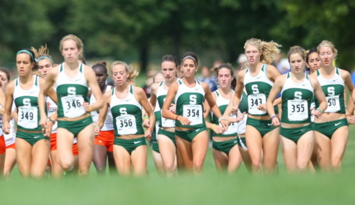 Spartans finish year 18th nationally, and second in the Big Ten.  Photo courtesy of MSU SID.