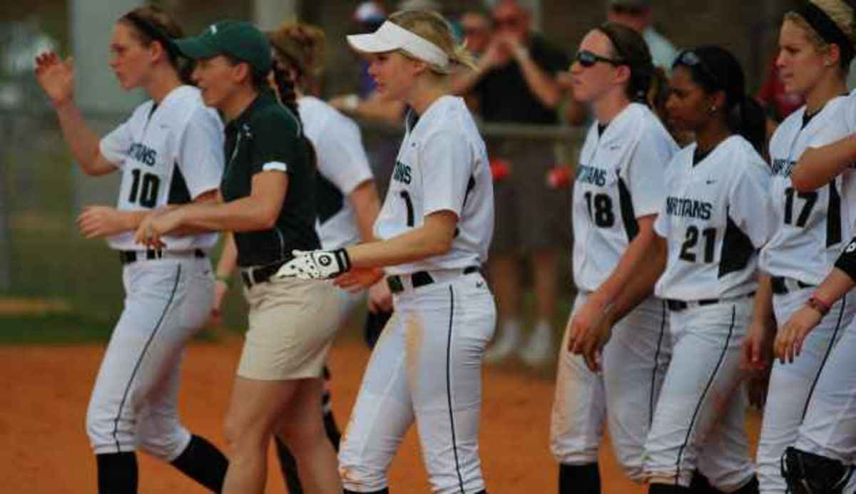 Hansen drives in seven RBIs while going 5-for-7 on the day.  Photo courtesy of MSU SID.