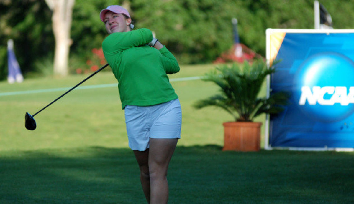 Sophomore shoots a 2-under 70 in Wednesday's first round.  Photo courtesy of MSU SID.