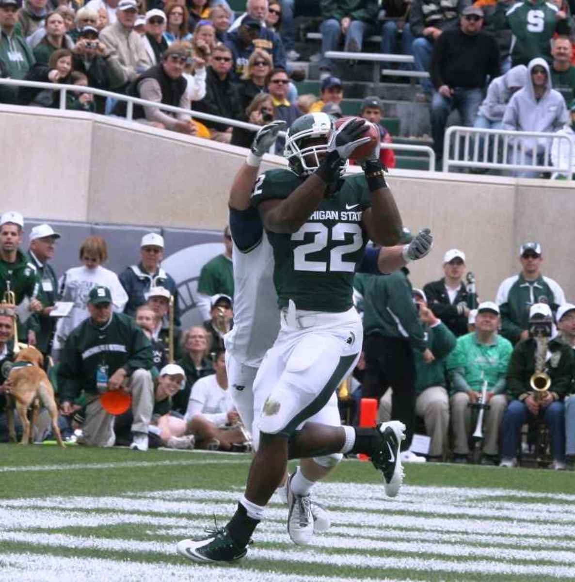 The Spartans are ready at 4-0 to enter Big Ten play.  Photo courtesy of Bill Marklevits.