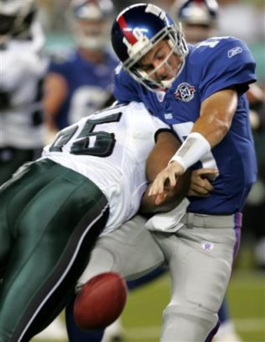 This picture shows you exactly what Eli Manning's fantasy value is so far this season