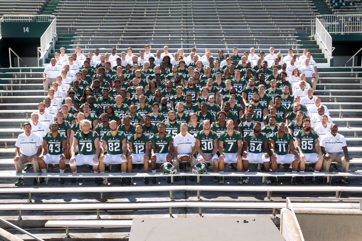 The 2016 Michigan State football team looks to extend the Spartans dominance over Michigan since the arrival of Mark Dantonio.  Photo courtesy of MSU SID.