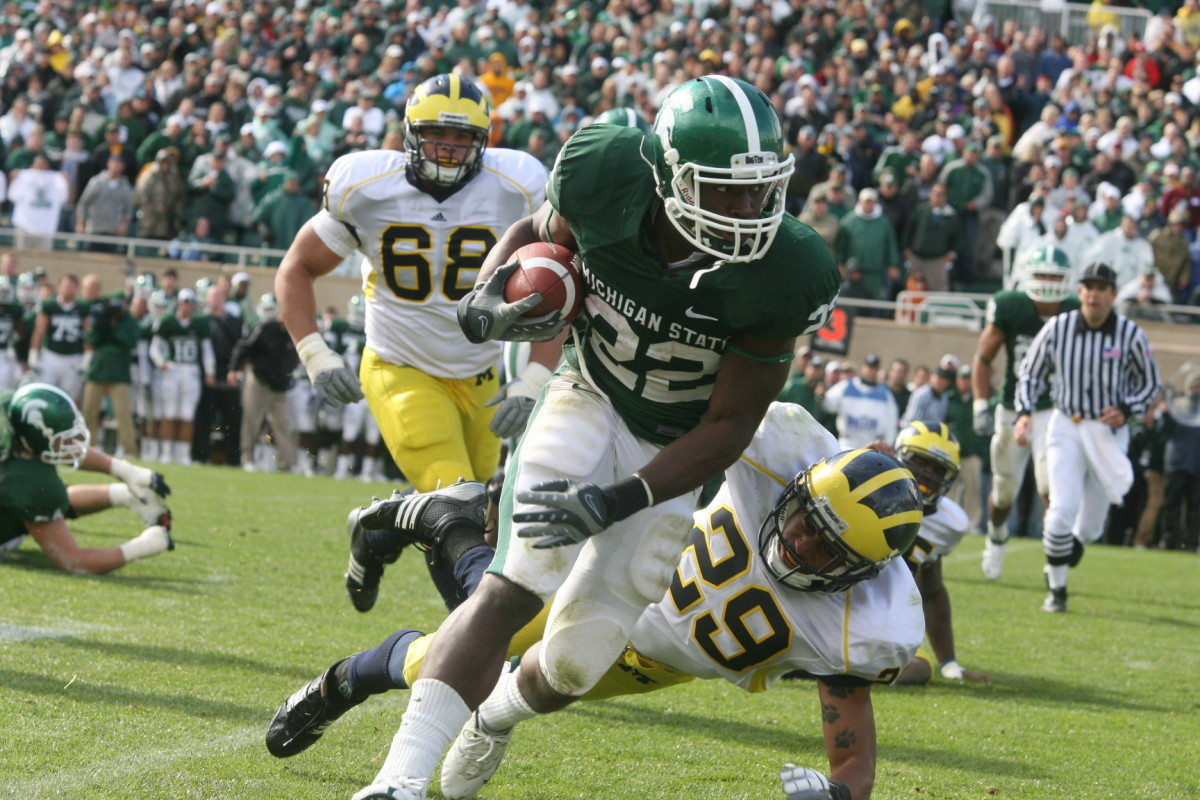True Freshman Larry Caper Scampers Here for the Winning TD.  Photo Courtesy of Bill Marklevits.