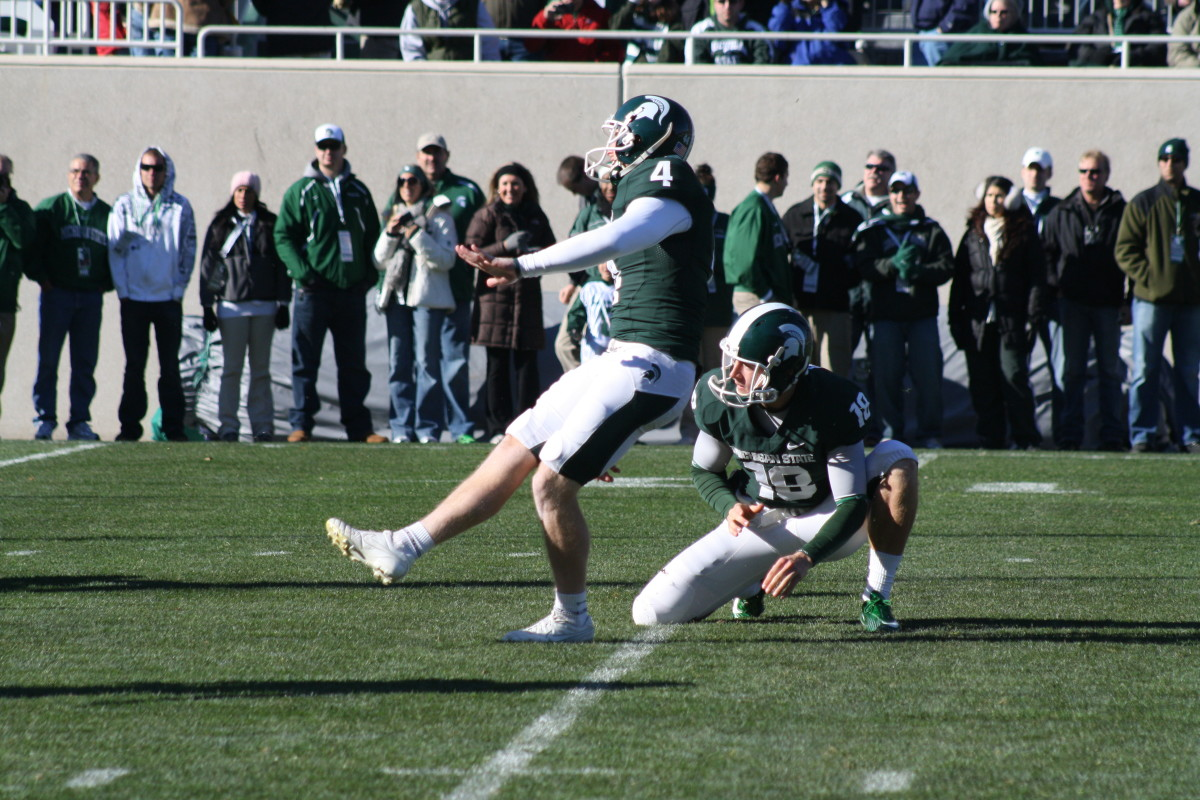 Dan Conroy has been amazing in 2010 for the Spartans.  Photo courtesy of Mark Boomgaard.