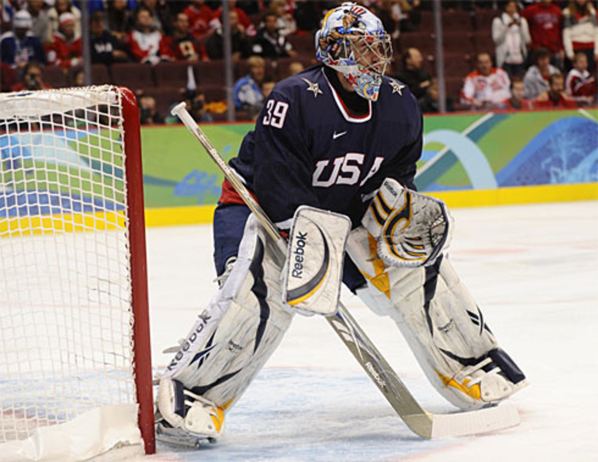 Ryan Miller is about to become the face of hockey around the world.  Photo courtesy of USATODAY.com and By Robert Hanashiro