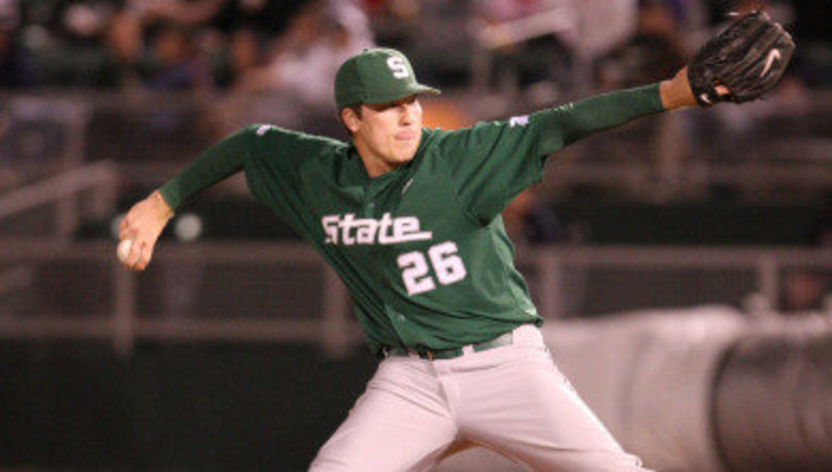 Kurt Wunderlich Named Big Ten Co-Pitcher of the Week.  Photo courtesy of the MSU SID.