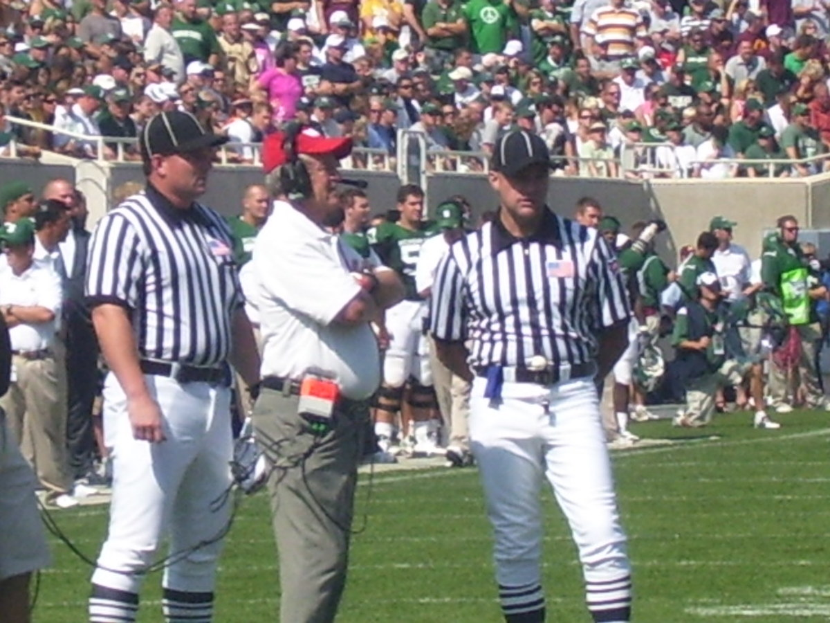 Mark Dantonio patiently awaits commit number one for the 2011 class.  Photo courtesy of Mark Boomgaard.