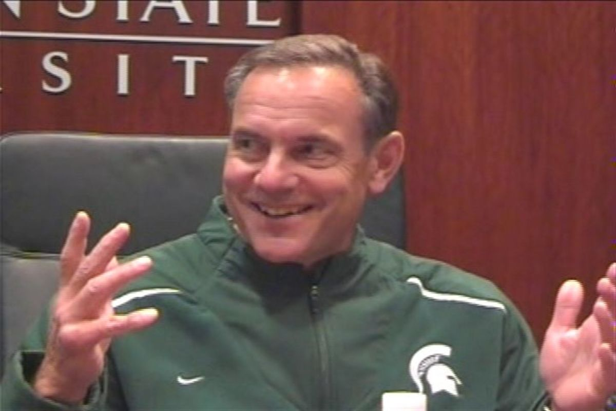 Coach D was All Smiles as He Talked Spartan Football Tonight!