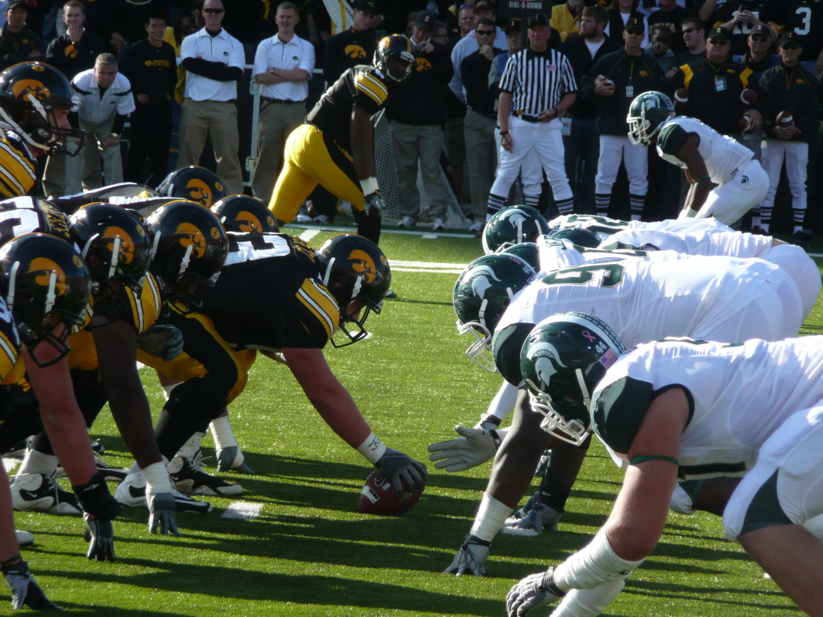 The Hawkeyes will be rebuilding this year, but still get to seven wins.  Photo courtesy of Mark Boomgaard.