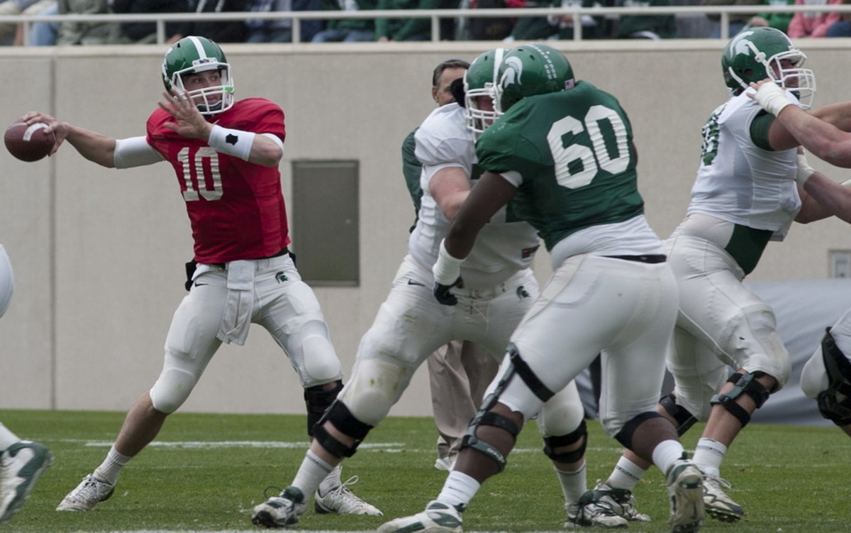 Andrew Maxwell continues to shine for the Spartans.  Photo courtesy of Starr Portice.