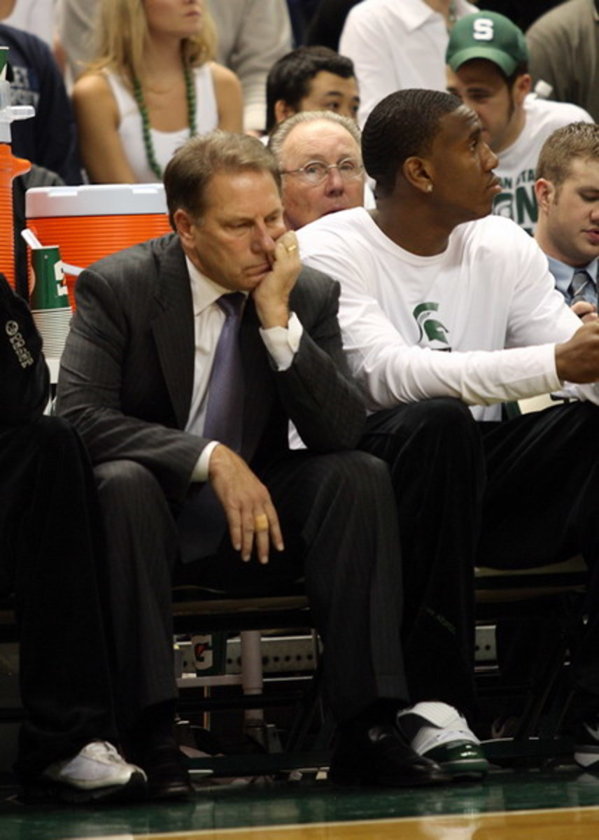 At what point will Izzo decide to move on without Raymar Morgan or does he stick with him and hope he rebounds?  Photo courtesy of Starr Portice.