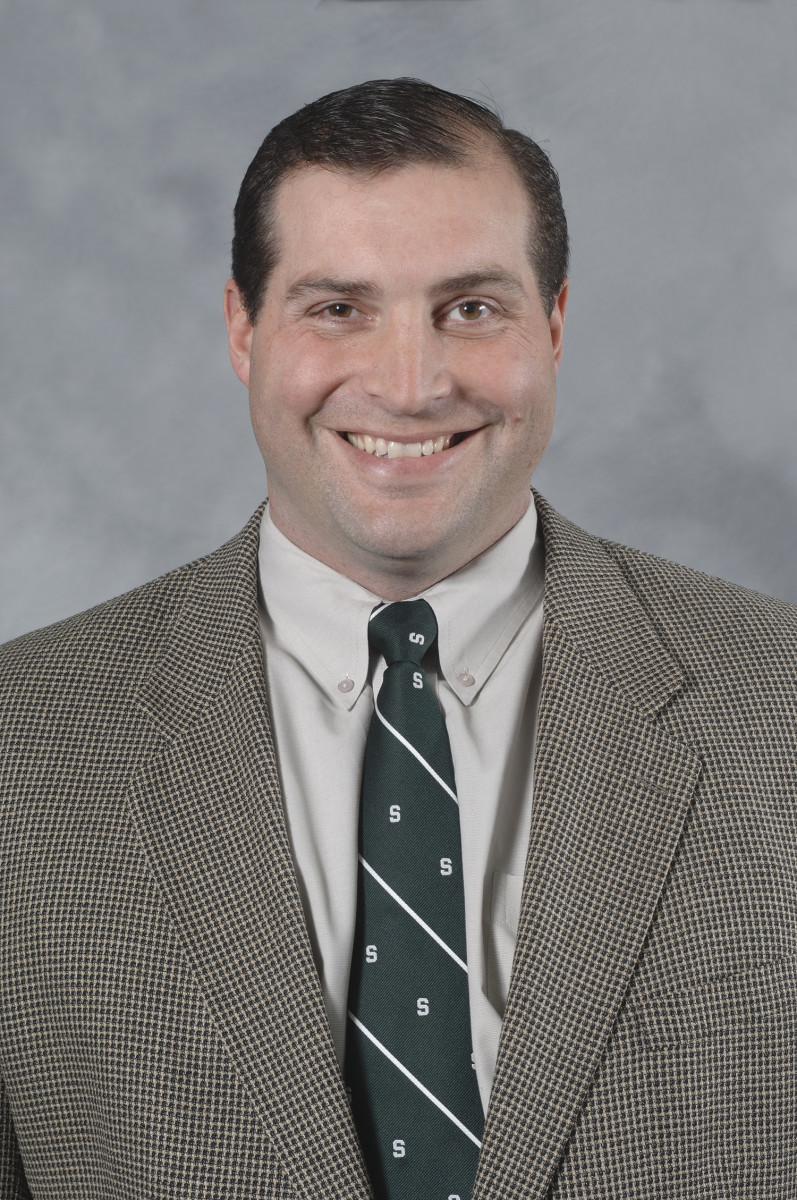 Mark Staten will do a very good job handling the MSU offensive line.  Photo courtesy of MSU SID.