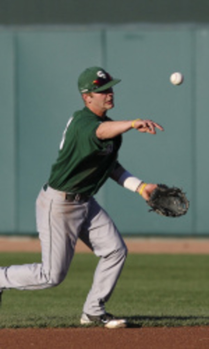 The 2010 Big Ten Freshman of the Year hit .380 with 12 doubles and 37 RBIs.  Photo courtesy of MSU SID.