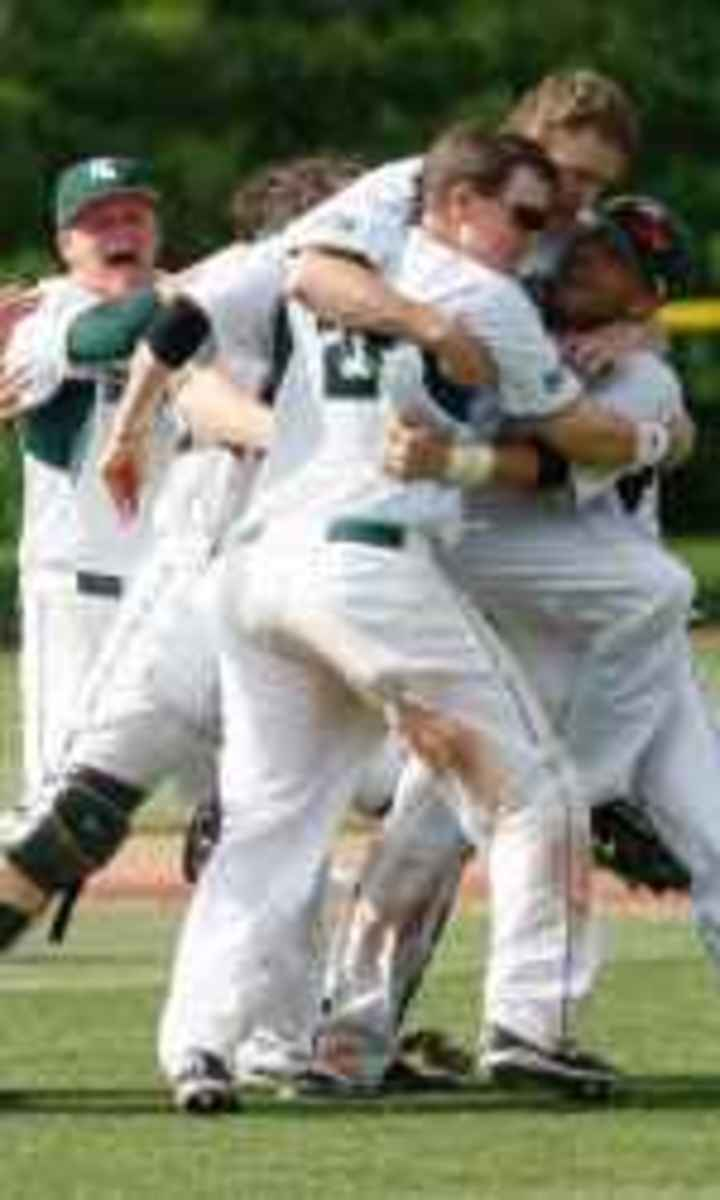 Spartans defeat Northwestern, 10-1, to win fourth Big Ten title in school history.  Photo courtesy of MSU SID.