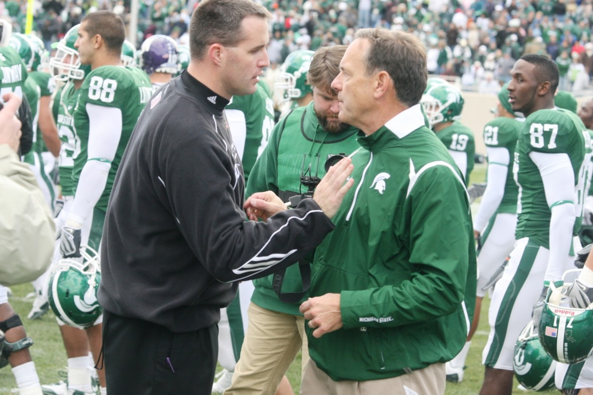 Coach D and the Spartans Hold On for the W!  Photo:  Bill Marklevits.