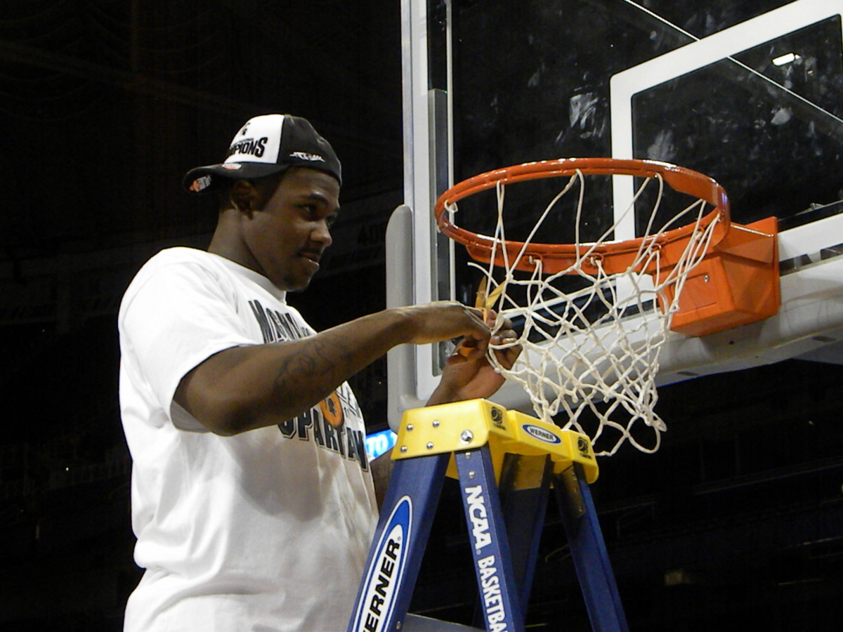 Can the Spartans cut down the nets after a national title in 2011?  Photo courtesy of Kevin Krzeminski.