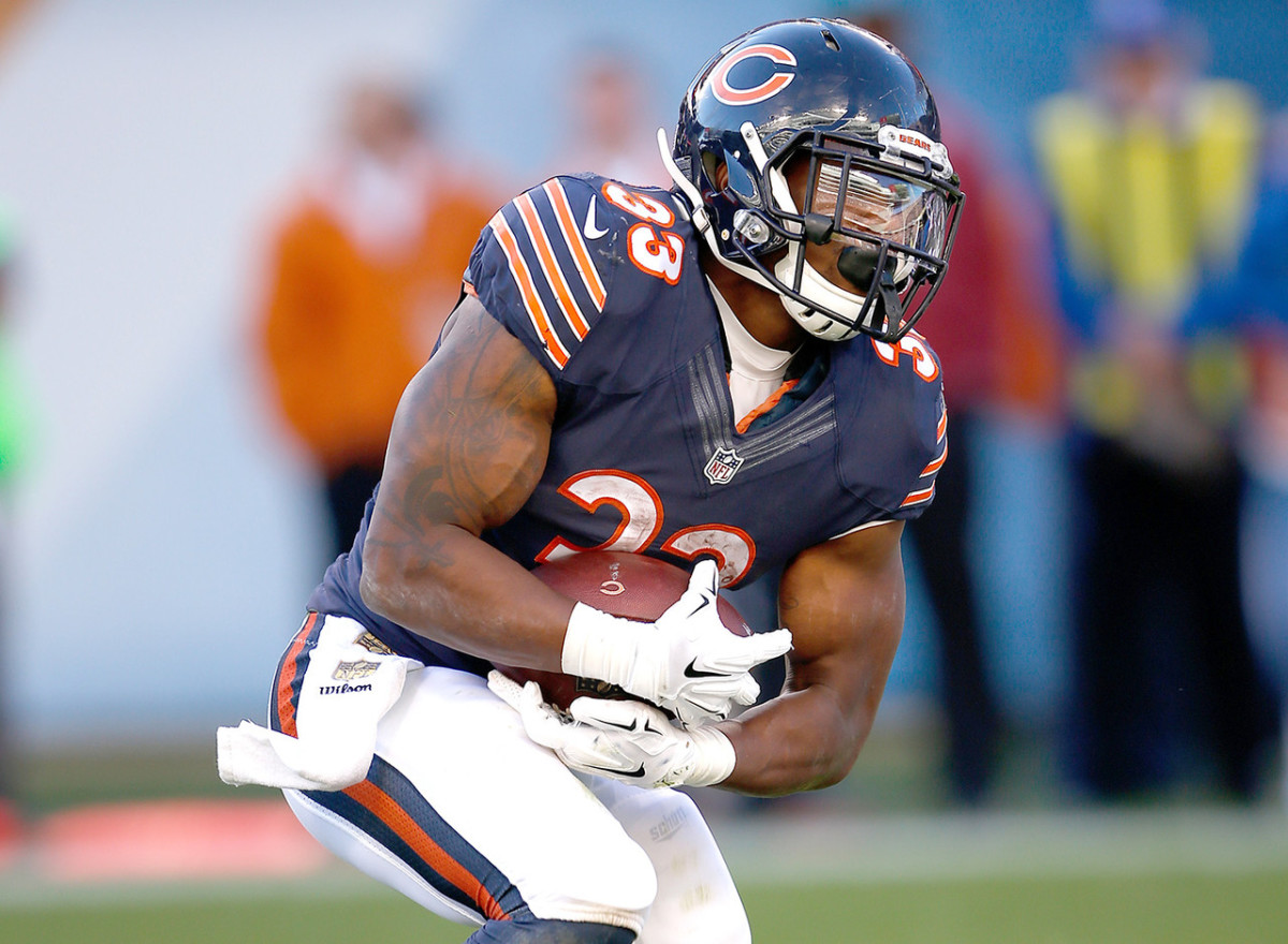 Jeremy Langford Former MSU & current Chicago Bears RB.  Photo courtesy of the NFL.com