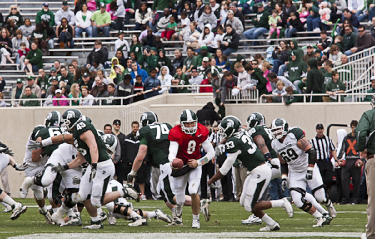 Mark Dantonio has built a team of leaders and has the Spartan program back on solid ground.  Photo courtesy of Starr Portice.