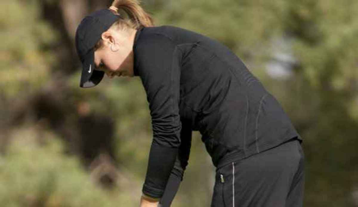 Meier shot a career-best 219 at this week's Central District Invitational.  Photo courtesy of MSU SID.