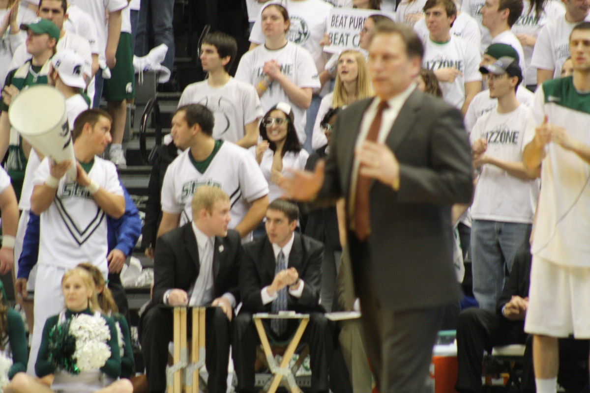 Look for Izzo and the Sparrtans to rebound today here at Penn State.  Photo courtesy of Mark Boomgaard.