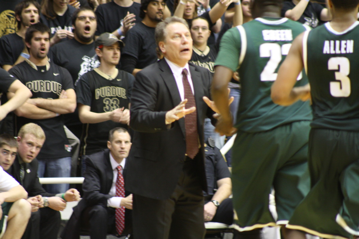 Tom Izzo loves March and with his Spartans being two wins from another Big Ten title, don't look for him to lose that passion any time soon.  Photo courtesy of Mark Boomgaard.