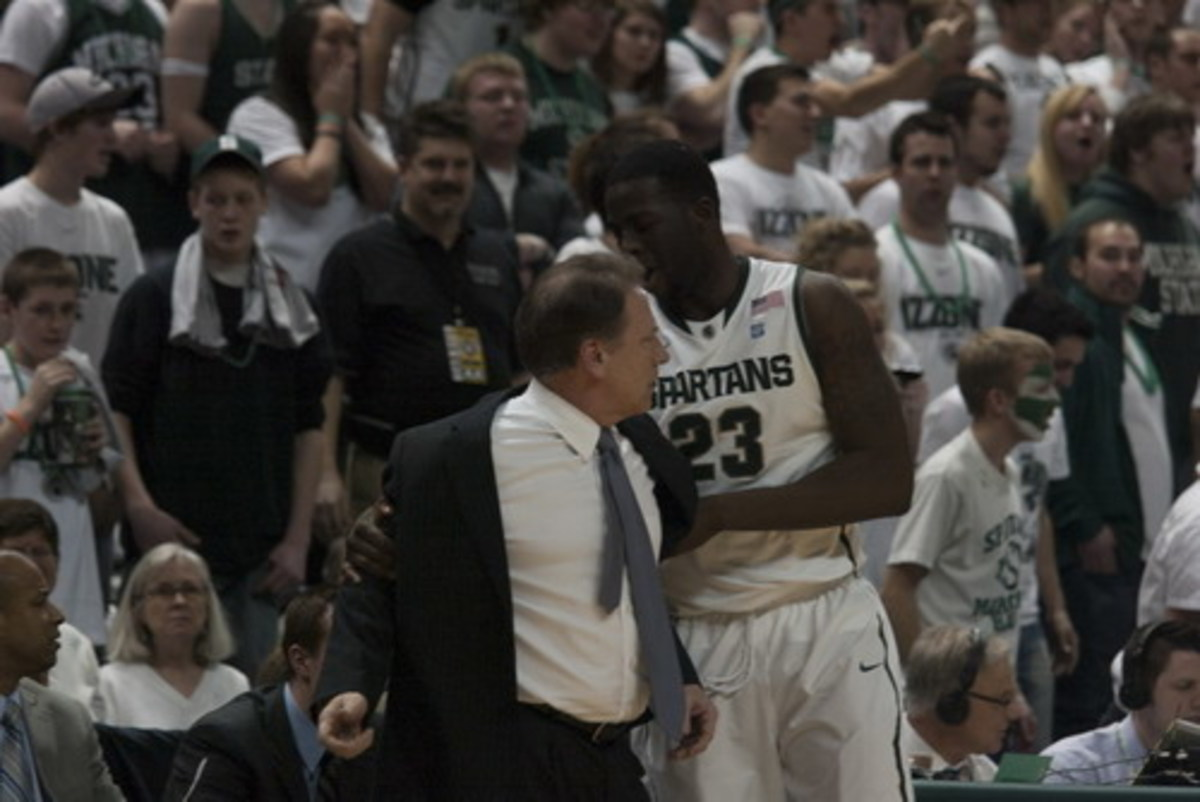 Tom Izzo has his biggest coaching job ahead of him now that March is firmly here.  Photo courtesy of Starr Portice.