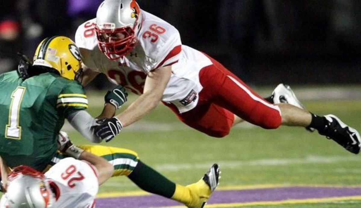 Tom Stroble is one of the best DE recruits for 2012 in the nation.  Photo courtesy of Stroble.