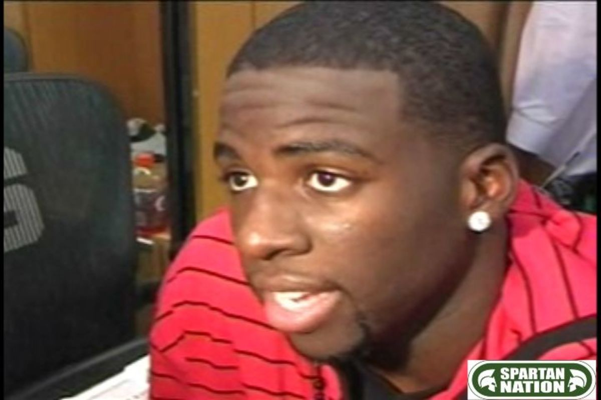 Draymond Green had a monster game for the Spartans, but still wasn't happy.